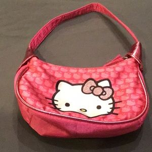 Hello Kitty Youth Purse - Pink with Zipper Close